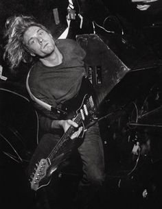 In Nirvana's early days, the band's only gimmick was Kurt's habit of playing guitar solos while lying on his back onstage. Even when the band became famous and tricks were no longer necessary, he occasionally did a solo this way.