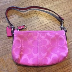 Small coach bag Barely used small pink coach bag. Looks like new! Coach Bags Mini Bags