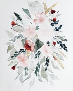 Loose watercolor painting by Shealeen Louise