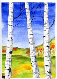 "Birch Tree Art Tutorial to go along with ""Birch Forest"" By Gustav Klimt, 1903"