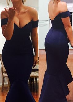 Open Back Off the Shoulder Mermaid Dress
