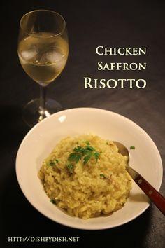 Chicken Saffron Risotto