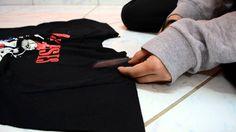 Customização: Camiseta muito grande ʕ•ᴥ•ʔ