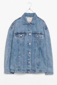 oversized jean jacket - mmmmmmm