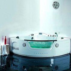 Baignoire Balnéo 2 places 32 jets Chromothérapie AQUASHELL www.maison-facile.com #bathroom