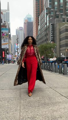 Red monochromatic, red on red, office outfit, faux fur, cute work outfits, nyc street style, black bloggers, white collar glam, interview outfit, workplace fashion, black girl magic