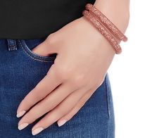 Swarovski Stardust Pink Double Bracelet