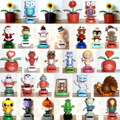 Solar Power Dancing Cupid Valentine Flowers Robot Owl & More! You Choose… Solar Powered Toys, Dancing Toys, Against All Grain, Altoids Tins, Valentines Flowers, A Christmas Story, Jelly Beans, Bobble Head, Diy Videos