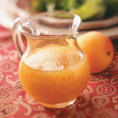 Apricot Orange Vinaigrette don't know about the rice vinegar, but red or white wine vinegar should do