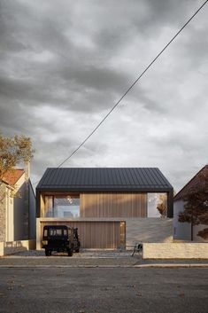 North Sea House by Ian Hazard via onreact Rustic Houses Exterior, House By The Sea, Modern Barn, Facade House, House Front, Modern House Design, Exterior Design, Facade Design, Architecture Design