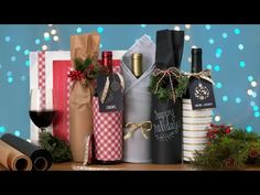 How to Gift Wrap a Bottle of Wine