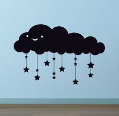 Happy Starry Cloud wall decal, very cute!
