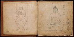 An eighteenth-century pattern book consisting of 36 ink drawings showing precise iconometric guidelines for depicting the Buddha and Bodhisattva figures. Written in Newari script with Tibetan numerals, the book was apparently produced in Nepal for use in Tibet. The concept of the 'ideal image' of the Buddha emerged during the Golden Age of Gupta rule, from the 4th to 6th century.