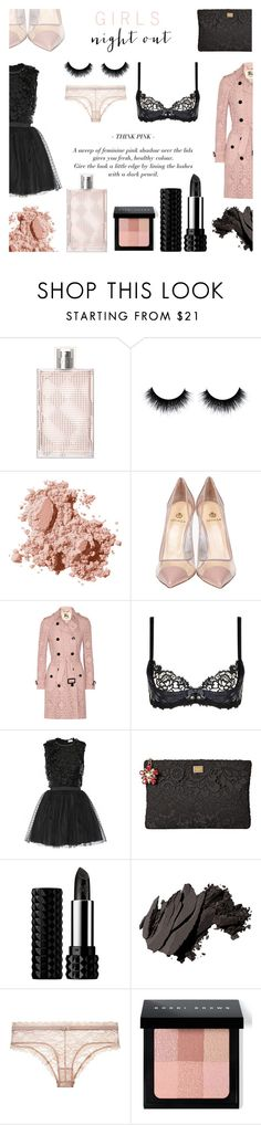 """""""Girls Night Out - 2016"""" by rachaelselina ❤ liked on Polyvore featuring beauty, Burberry, Bobbi Brown Cosmetics, Semilla, Agent Provocateur, RED Valentino, Dolce&Gabbana and Kat Von D"""