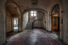 Old Abandoned Buildings | Walking through old abandoned buildings while it is raining outside ...