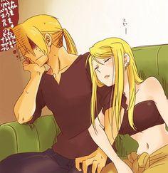 Fullmetal Alchemist Ed and Winry