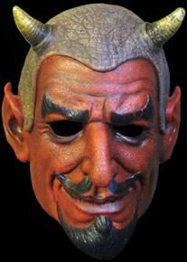 Devil Demon Alien Chinless Vinyl Half Mask Adult Costume Accessory New