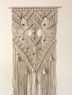 Large Macrame Wall Hanging Tapestry Woven Wall Art Boho Decor Fiber Art Bohemian…