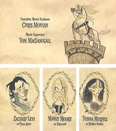 Tangled - end credits | Illustrator: Claire Keane - shiyoon.blogspot.com