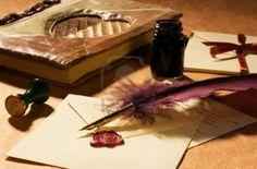 papel tintero y pluma