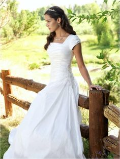 modest, simple and surprisingly very pretty wedding dress