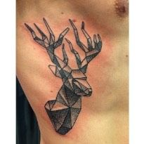 Tatouages geometriques cerf tatouages g om triques tatouage photo image g om trie tattoo - Tatouage cerf signification ...