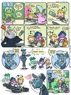 Alan Alien N°27 - Publicada en la revista infantil PIN - Guion & Arte (realizado de forma digital)