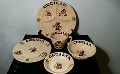Mayer China Mayan ware 5 piece Child's Dish set Restaurantware