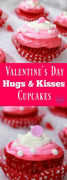 This easy Valentine's Day Cupcake Recipe has a fun surprise center. The recipe can easily be made gluten free and they taste so good.