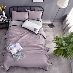 Europe Summer Quilt Air Condition Blanket King/Queen/Full Washed Cotton Comforter Solid Bed Cover High Quality Home Hotel Use