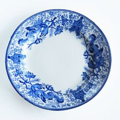 Vintage BOCH Plate, cobalt blue and white ceramic Plate by BOCH Freres made in Belgium