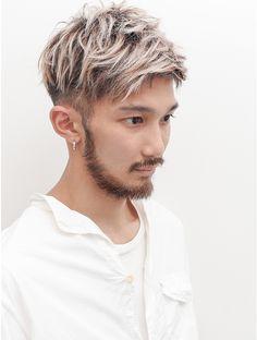 Trending Hairstyles For Men, Mohawk Hairstyles Men, Silver Hair Men, Guy Haircuts Long, Dyed Hair Men, Gents Hair Style, Men Hair Color, Editorial Hair, Curly Hair Cuts