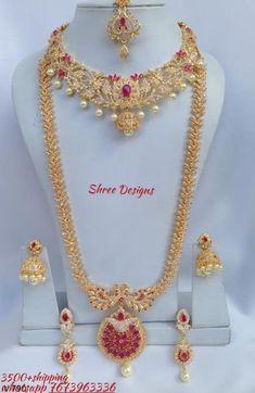 Fancy Jewellery, Gold Jewellery Design, Gold Jewelry, Jewlery, Indian Bridal Jewelry Sets, Wedding Jewelry Sets, Ruby Necklace Designs, Chains, Attitude