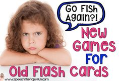 Tired of boring speech therapy games?  Try out these new therapy games for old flash cards!