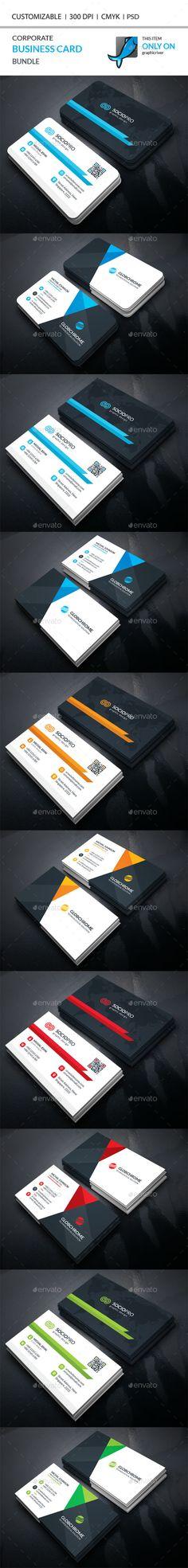 Corporate Business Card Bundle Templates PSD. Download here: http://graphicriver.net/item/corporate-business-card-bundle/16447487?ref=ksioks