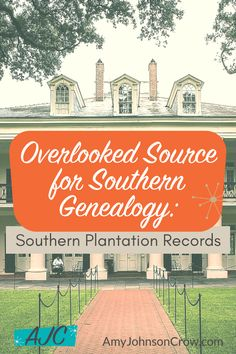 Southern genealogy is challenging. An often-overlooked resource is plantation records. Ari Wilkins show what is in these records and how they can be used in your genealogy research. Free Genealogy Sites, Genealogy Chart, Genealogy Research, Family Genealogy, Genealogy Humor, African American Genealogy, Genealogy Organization, Family Research