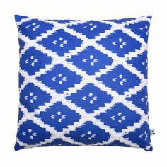 Coussin Naga Blue - Bleu et Blanc  - Bococo