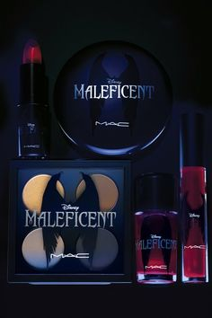 MAC's Maleficent Make-Up someone please get these for meeeee! lololol ugh on another note I cant stop kicking myself for not buying that Maleficent makeup bag when I had the chance!!