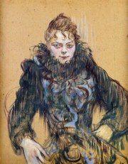 "Henri de Toulouse-launtrec, ""Mulher com boá preto"", 1892"