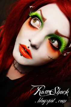 Makeup!! oh and Rosette is so awesomely creative! (mad hatter inspired makeup)