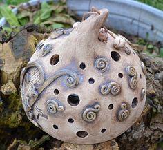 Windlichter - Windlicht Hobbit 101-422 - ein Designerstück von KeramikKreativ bei DaWanda