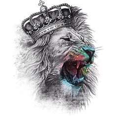 Lion king with crown - photo#14