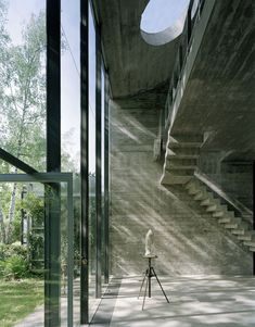 subtilitas:  Hermann Rosa's incredible sculpture studio he designed for himself in Munich, 1981. Photos (C)Jürg Zimmermann.