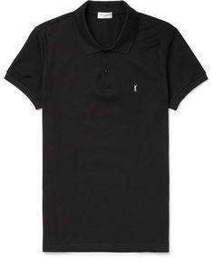 $370 - Saint Laurent Cotton-Piqué Polo Shirt - EVERYSTORE