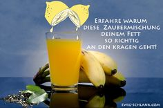Grüner Tee, Zitronensaft und Banane verfügen über eine erstaunliche Wirkung!     Grüner Tee  wirkt zusammen mit dem Saft der Zitrone effek...