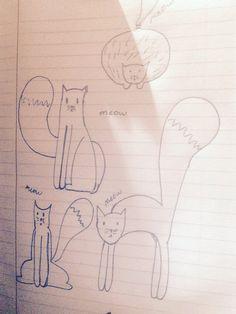 Cats!!!!  Doodle!