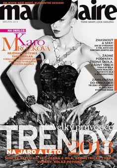 Karo in #GiorgioArmani on the cover of Marie Claire Magazine [Czech Republic]