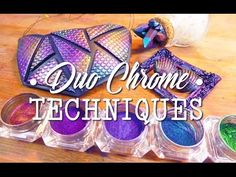 Duo Chrome Techniques on Polymer Clay l OIL SLICK & CHAMELEON
