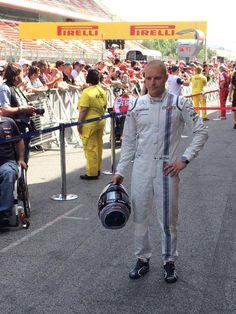 In the Paddock w/Valteri Bottas ahead of the 2015 #F1 Spanish Grand Prix