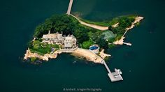 Long Island Sound Real Estate Aerial Photo---I want this